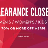 Clearance sale at 6pm