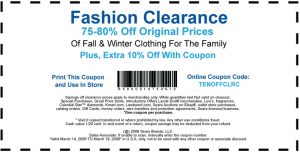 Nordstrom fashion coupon