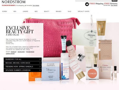 Nordstrom online global e-commerce