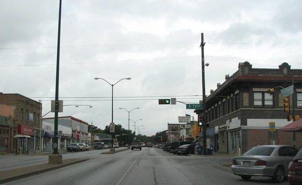 Area of Oak Cliff Dallas