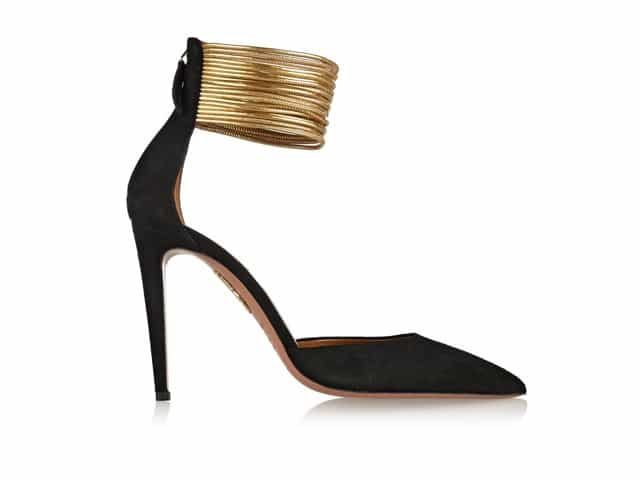 AQUAZZURA Hello Lover Cord Details Suede Pumps