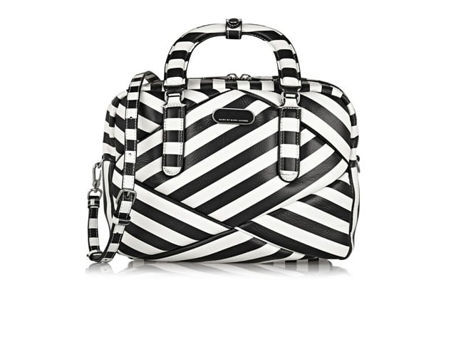 MARC BY MARC JACOBS Turn Around Striped Leather Shoulder Bag