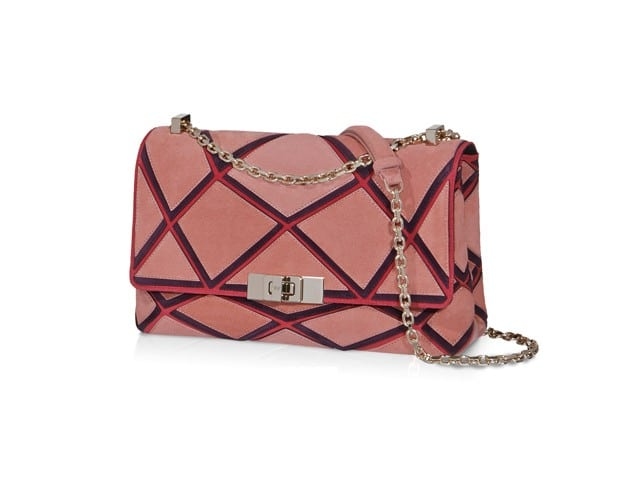 ROGER VIVIER Suede Prismick Mini Shoulder Bag