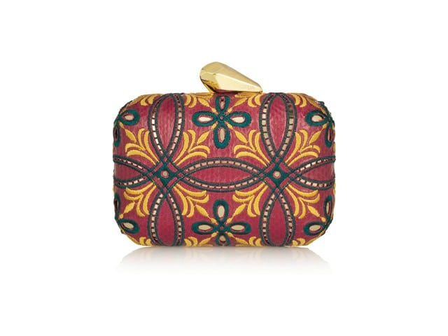 KOTUR Morley Embroidered Elphane Box Clutch