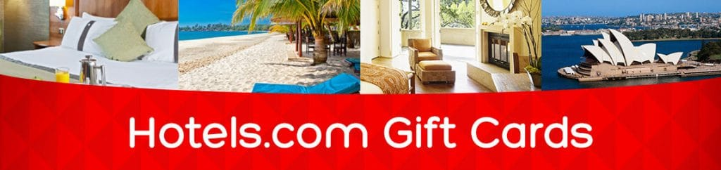 Hotels.com Wide Offer of Gift Cards