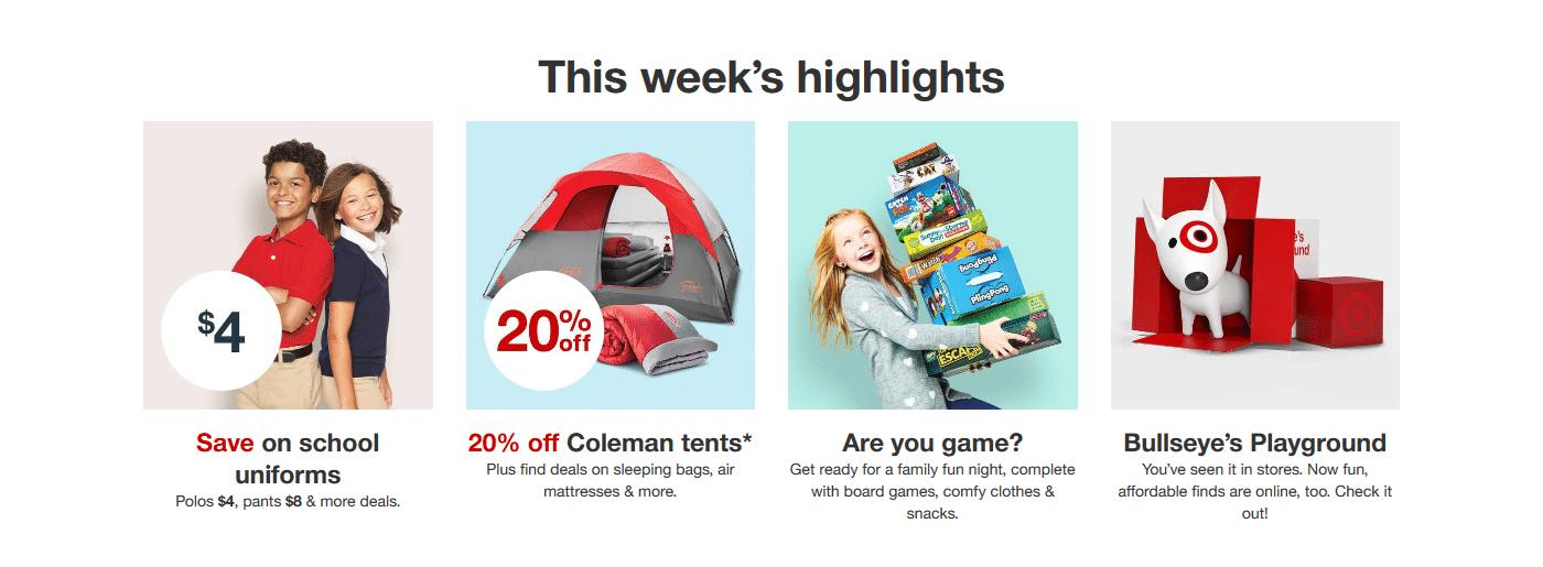 Target discount