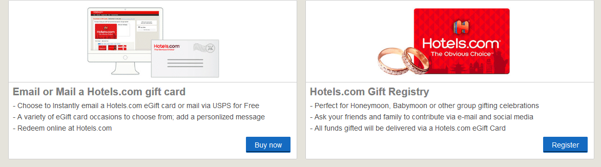 Hotel gift card