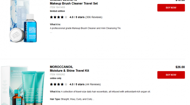 Sephora Travel Kits
