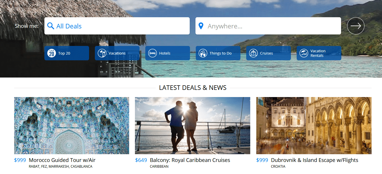 Travelzoo's deals