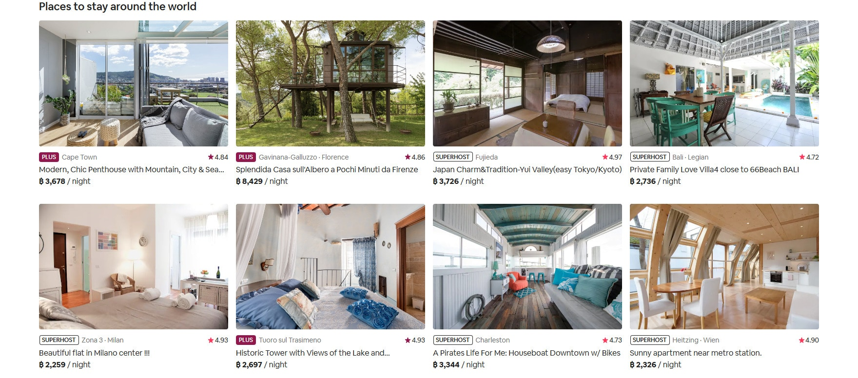 Airbnb's deals