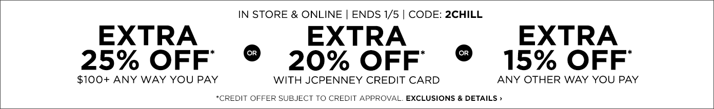 JCPenney coupon 10 off 20 off 25 off code