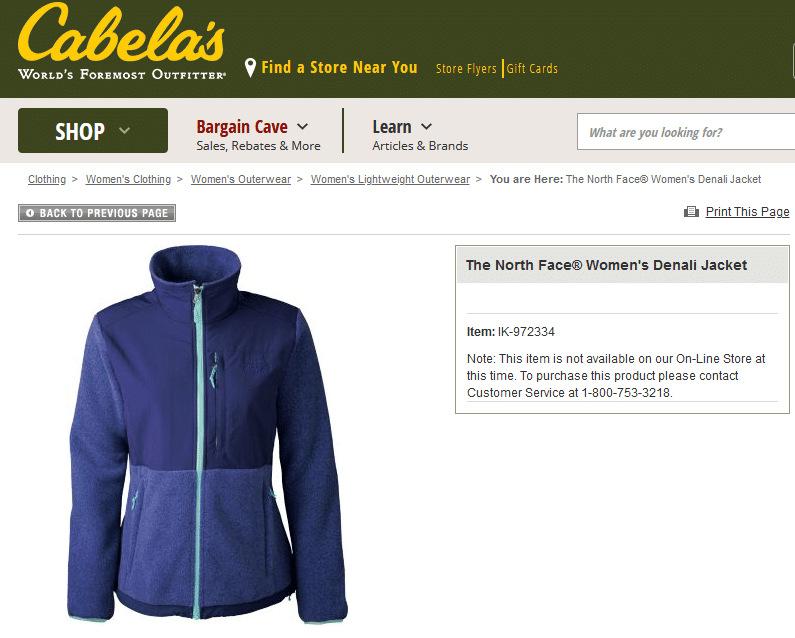 The North Face Women's Denali Jacket Cabela's