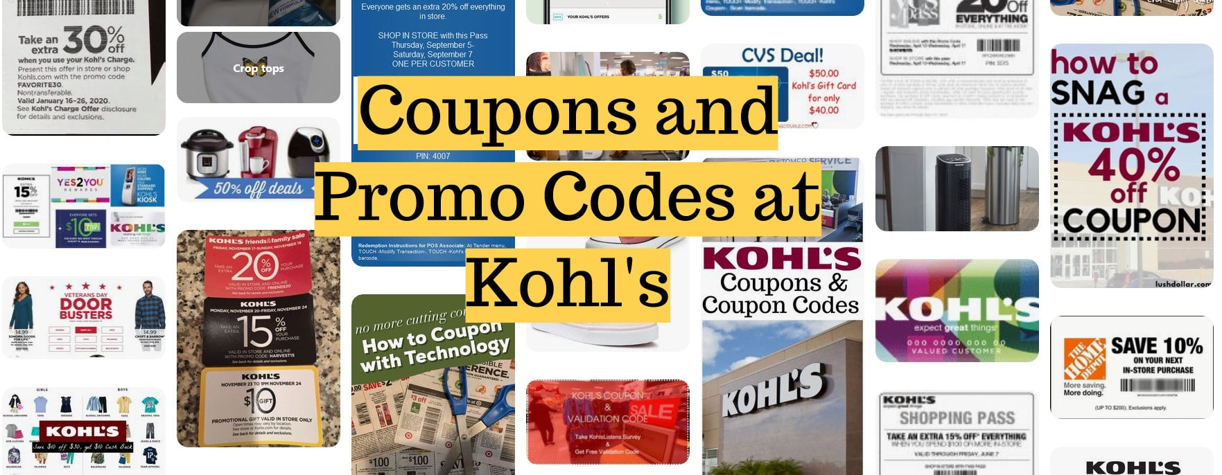 Coupons and Promo Codes at Kohl's