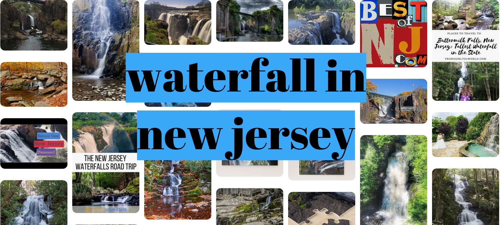 waterfall in new jersey