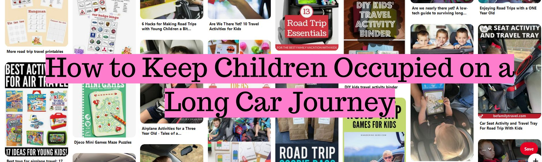 How to Keep Children Occupied on a Long Car Journey