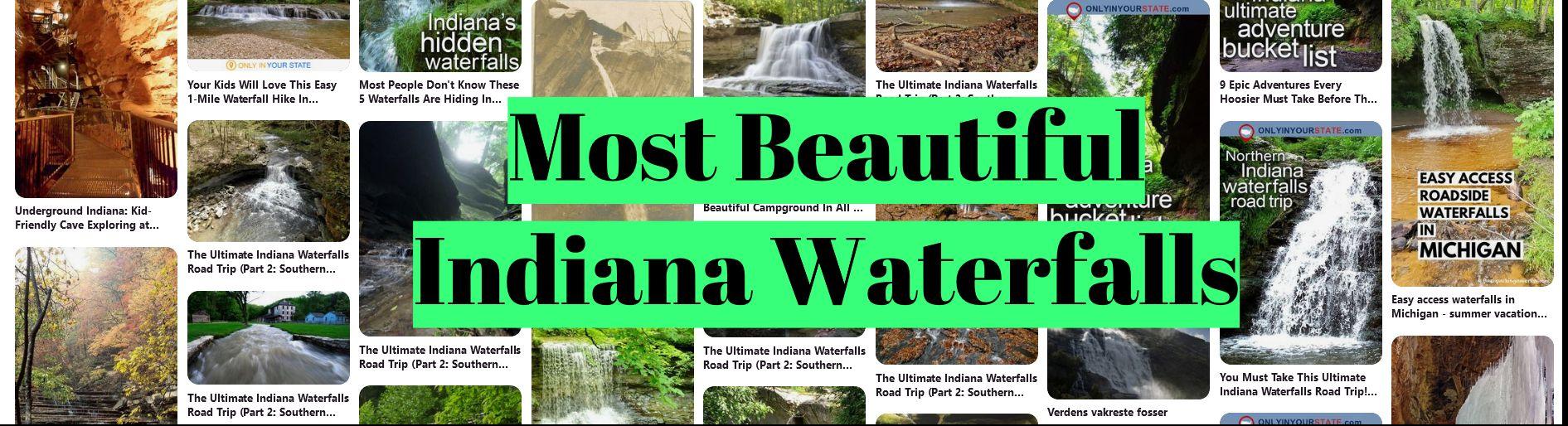 Most Beautiful Indiana Waterfalls