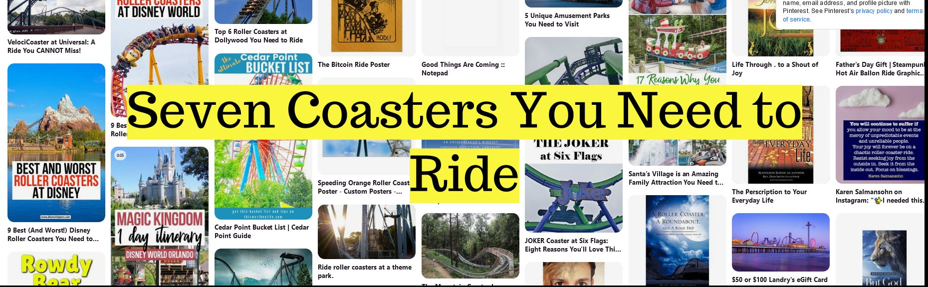 Seven Coasters You Need to Ride