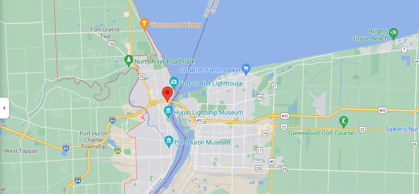 Port Huron map