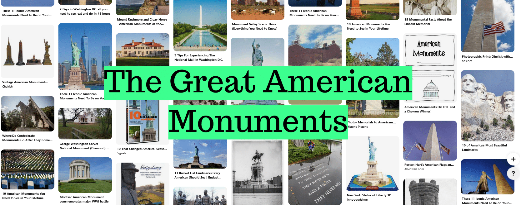 The Great American Monuments