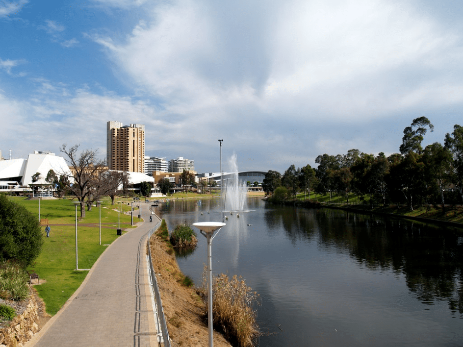 Along the Torrens River, Adelaide