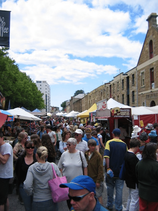 Bustling Salamanca Market