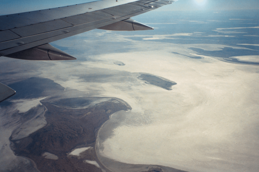 Lake Eyre, near Adelaide, South Australia