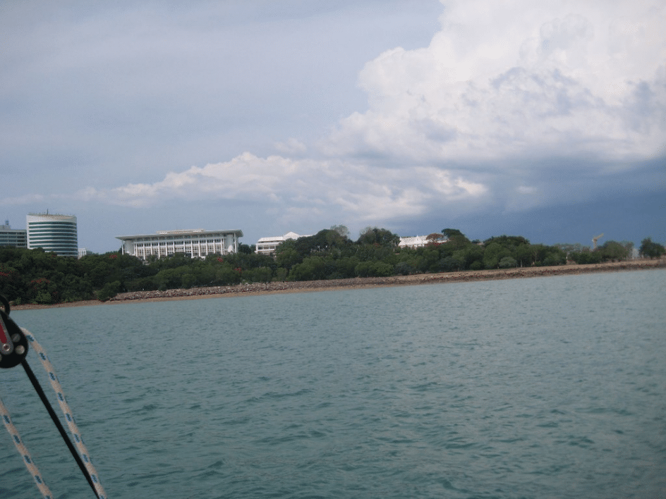 Parliament House, Darwin, from the Harbour